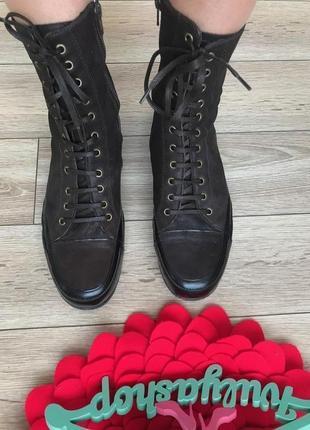 Удобные кожаные ботинки с напылением дорогой бренд murratti италия4