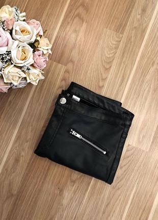 Кожаные брюки лосины с кармашками, новые😍1