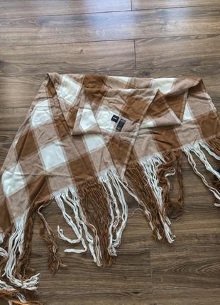Коричневый шарф asos