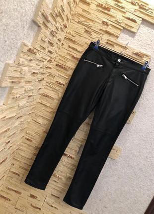 Кожаные брюки лосины с кармашками, новые😍5