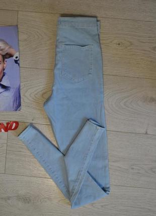 Стильные скинни джинсы с высокого талией2