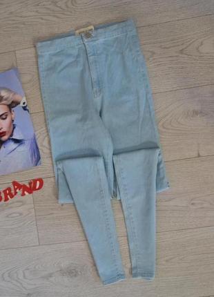 Стильные скинни джинсы с высокого талией5