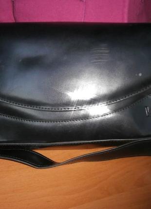 Элегантная сумка из дорогой глянцевой натуральной кожи1