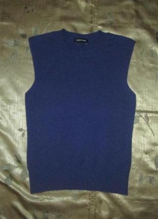 Кашемировый жилет кофта paolo tonali свитер безрукавка 100% кашемир италия1