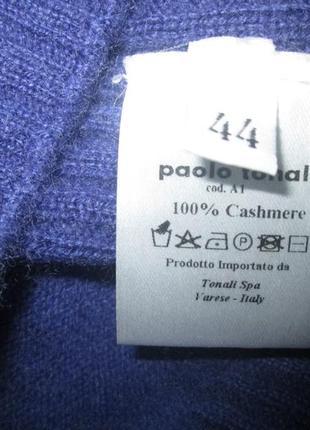Кашемировый жилет кофта paolo tonali свитер безрукавка 100% кашемир италия4