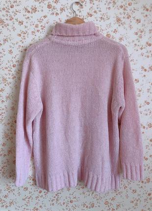 Теплый плюшевый свитер с горловиной5