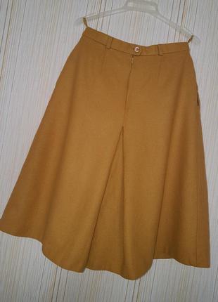 Жгуче-яркая и остро-модная: шерстяная юбка-кюлоты горчичного цвета!!!2