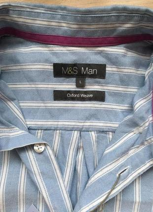 Рубашка новая marks&spencer cotton
