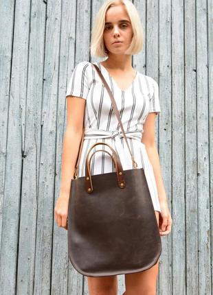 Кожа. ручная работа. вместительная кожаная коричневая сумка, сумочка, шопер, шоппер3