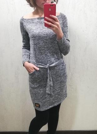 Классное платье с кармашками1