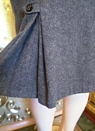 Серая шерстяная юбка next, 10 размер, турция, шарф в подарок.5