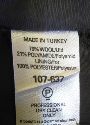 Серая шерстяная юбка next, 10 размер, турция, шарф в подарок.4