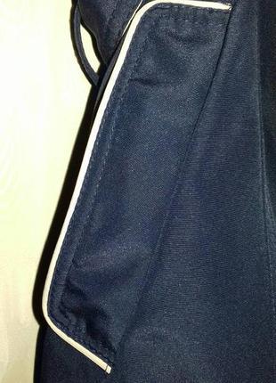Итальянская идеальная куртка плащик, демисезон, темно-синяя, съемн капюшон, на 56-58 укр3