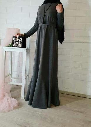 Платье базовое с воланом2