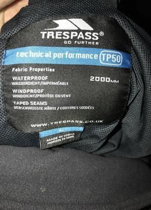 Треккиговая, лыжная куртка ( костюм) trespass waterproof 2.000 (l)5