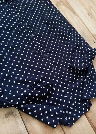 Элегантная блуза, рубашка в горох3
