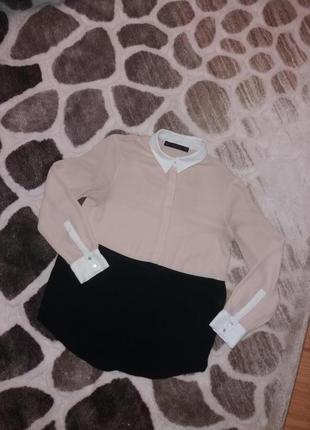 Комбинировая блуза zara5