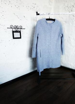 Трендовое шерстяное пальто zara1