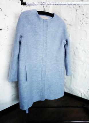 Трендовое шерстяное пальто zara2