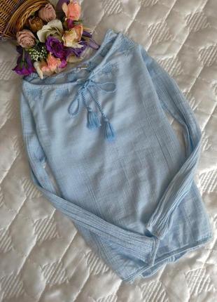 Хлопковая блуза esprit xs-s 👍1