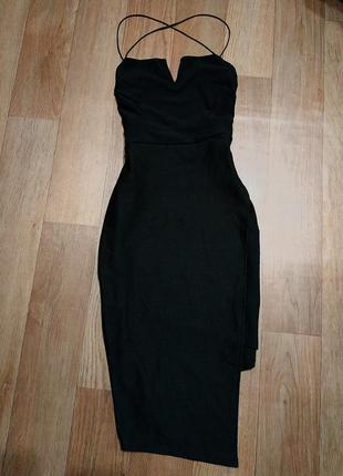 Платье вечернее с открытой спинкой1