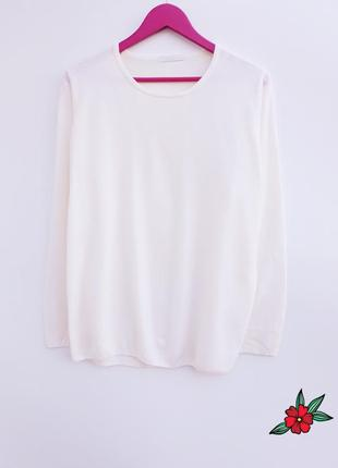 Нежный джемпер молочного цвета очень красивый джемпер свитер большой размер1