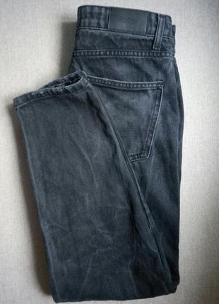 Мом джинсы-бойфренды vintage mom fit jeans washed black4