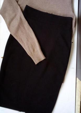 Черная теплая юбка карандаш1