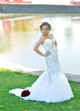 Свадебное платье рыбка4