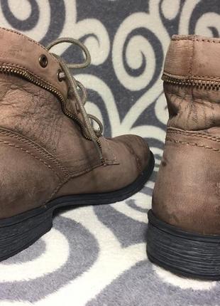 Шикарные, модные, ботинки, 100% натуральная кожа (нубук) 39р. 25-25,5см. германия.2