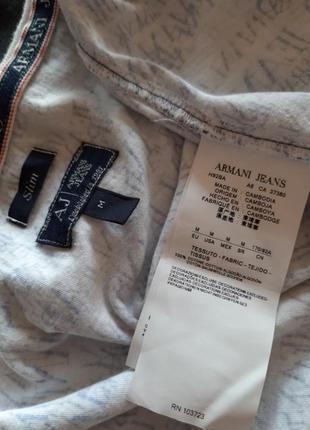 Футболка принт оригинал armani jeans раз.м5