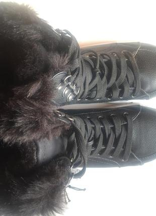 Высокие ботинки утеплённые на меху (шнуровка и молния) 39р2