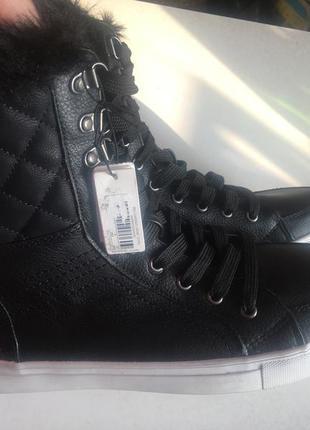 Высокие ботинки утеплённые на меху (шнуровка и молния) 39р4