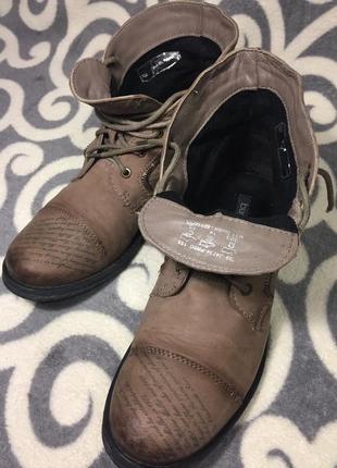 Шикарные, модные, ботинки, 100% натуральная кожа (нубук) 39р. 25-25,5см. германия.3