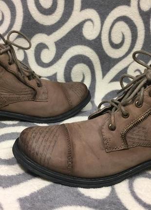 Шикарные, модные, ботинки, 100% натуральная кожа (нубук) 39р. 25-25,5см. германия.4