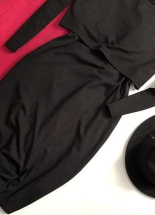 Элегантное платье миди с имитацией топа h&m3