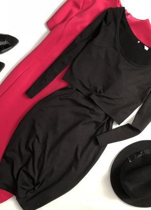 Элегантное платье миди с имитацией топа h&m1