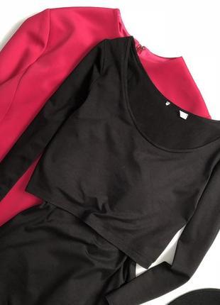 Элегантное платье миди с имитацией топа h&m2