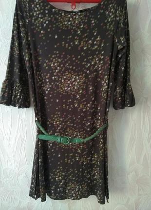 Трикотажное платье- туника