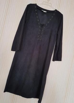 Платье из искусственной замши1