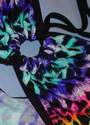 Верх от купальника раздельного топ бандо лиф бюст чашка 75-80-85 в разноцветный черный4