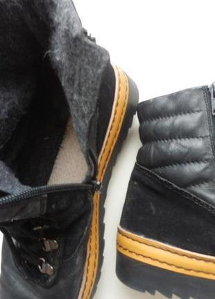 Кожаные ботинки gabor 6,5р 26,5см2