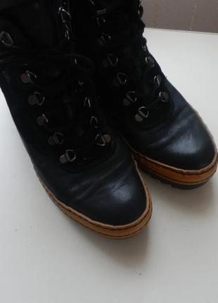 Кожаные ботинки gabor 6,5р 26,5см3