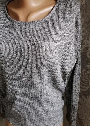 Свитер кофта серый pull & bear2