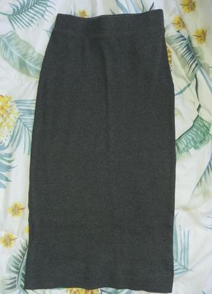 Трикотажная юбка карандаш миди от h&m2