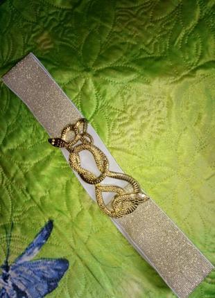 Пояс резиночный к платью со змейкой.