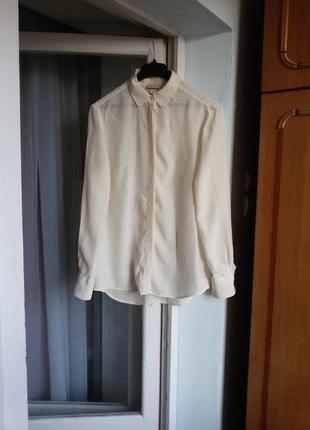 Шелковая рубашка h&m 100% шелк1