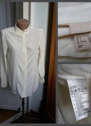 Шелковая рубашка h&m 100% шелк2