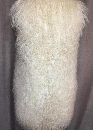 Жилет из натурального меха  ламы3