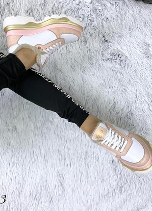 Кожаные зимние кроссовки в стиле balenciaga. 36-404